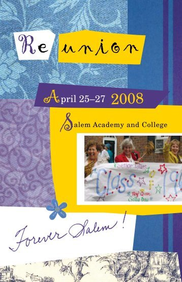 April 25–27 2008 - Salem College