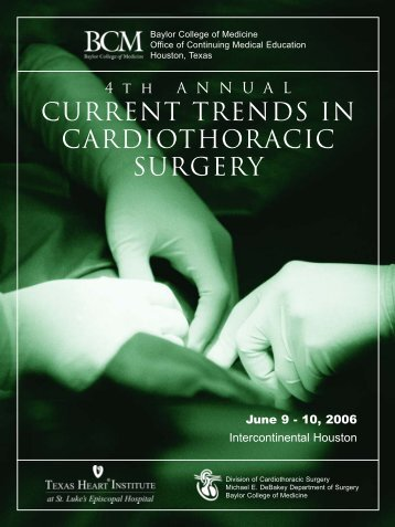 current trends in cardiothoracic surgery - CME Activities