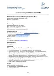 Kursbeskrivning vt13 - Institutionen för franska, italienska och ...
