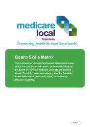 Board Skills Matrix - Tasmania Medicare Local