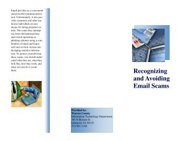 Recognizing and Avoiding Email Scams - Warren County