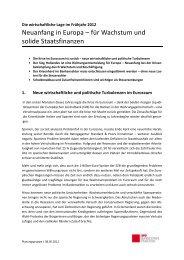 Neuanfang in Europa – für Wachstum und solide ... - Rainer Arnold