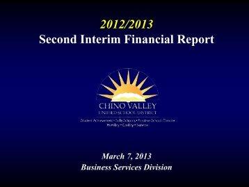 Second Interim Presentation - Chino Valley Unified School District