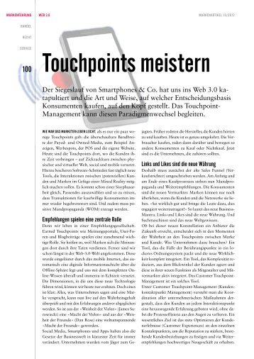 Touchpoints meistern - Touchpoint Management