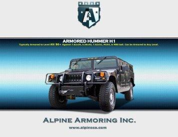ARMORED HUMMER H1 - Alpine Armoring Inc.