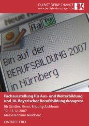 Berufsbildung 2007 - Berufsbildung Bayern