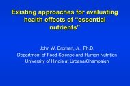 Existing Approaches For Evaluating Health Effects Of