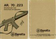 Beretta AR70 cal. 223 - Owner Manual - BerettaWEB.com