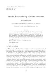On the k-reversibility of finite automata - Research Institute for ...