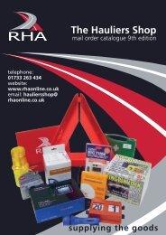 Rhaonline.co.uk The Hauliers Shop - Road Haulage Association