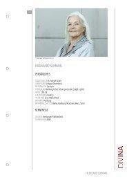 HILDEGARD SCHMAHL - DIVINA – Agentur für Schauspielkunst