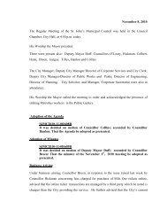 Council Minutes Monday, November 8, 2010 - City of St. John's