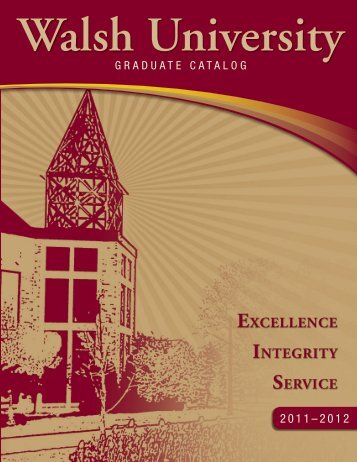 Graduate Catalog - Walsh University