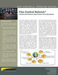 Flex Control Network® Product Sheet - DNF Controls