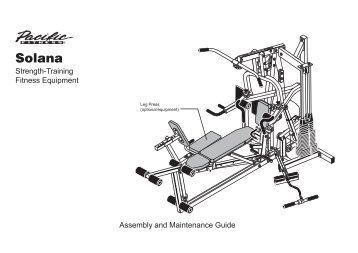 Precor Zuma Exercise manual