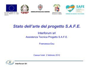 Slide Interforum - Sociale - Provincia di Cagliari
