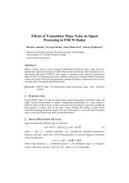 Effects of Transmitter Phase Noise on Signal Processing in FMCW ...