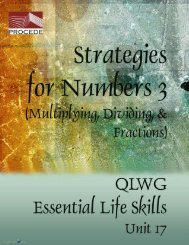 Strategies for Numbers 3