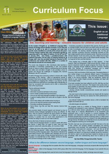 Download Curriculum Focus March 2012 Issue 11 - Panaga School
