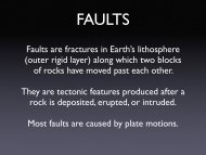 October 12, 2005: Plate boundaries, faults, earthquakes, etc.