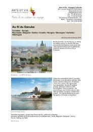 Au fil du Danube - Arts et Vie
