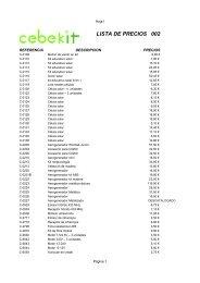 LISTA DE PRECIOS 002 - palcoelectronica