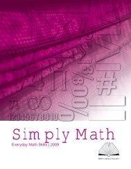 Everyday Math Skills Workbooks series - Simply Math - My ERC