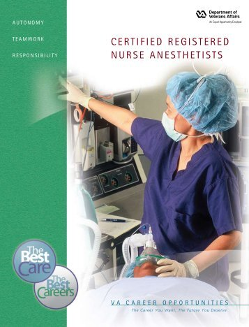 CERTIFIED REGISTERED NURSE ANESTHETISTS - VA Careers