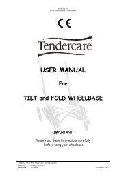 036-01v3 Tilt & Fold Wheelbase User Manual