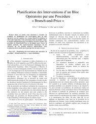 Planification des Interventions d'un Bloc Opératoire par ... - Smsi.rnu.tn
