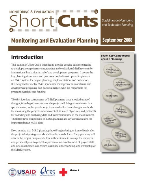 Shortcuts Monitoring And Evaluation Planning Crs Technical