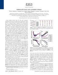 Inhibiting HIV Fusion with a β-Peptide Foldamer - Schepartz ...