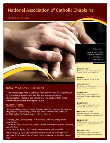 NACC Annual Report - National Association of Catholic Chaplains