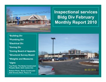 FEB 2010 MONTHLY REPORT - City of Springfield