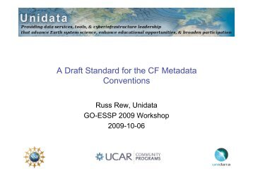 A Draft Standard for the CF Metadata Conventions - GO-ESSP