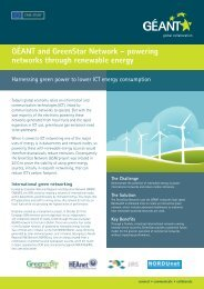 GÉANT and GreenStar Network – powering networks through ...