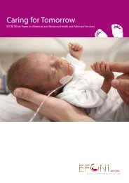 Caring for Tomorrow - the EFCNI White Paper on Maternal and ...