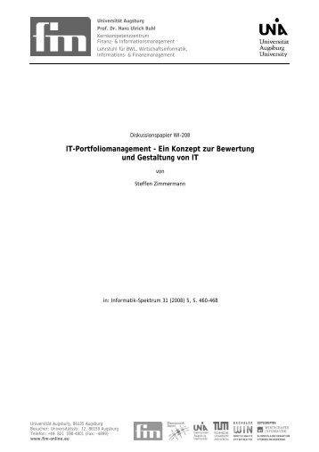 IT-Portfoliomanagement - Ein Konzept zur ... - Der Lehrstuhl