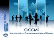 Integrated Criminal Case Management System of ... - e-government