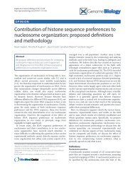 Contribution of histone sequence preferences to nucleosome ...