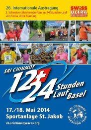 Ausschreibung 2014 - Sri Chinmoy Marathon Team - Schweiz