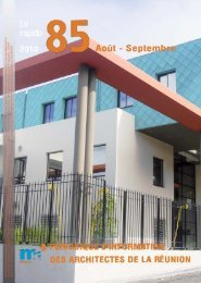 Rapido n°85 - archi.re :: architectures à l'île de La Réunion