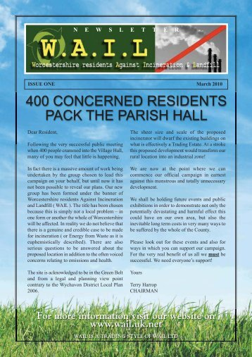 WAIL newsletter - Worcestershire residents Against Incineration ...