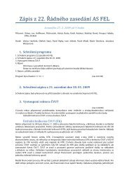 Zápis z 22. Řádného zasedání AS FEL