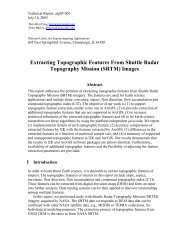 Extracting Topographic Features From Shuttle Radar ... - ISDA