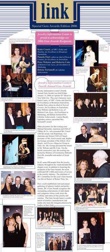 Special Gem Awards Edition 2006 - Jewelry Information Center