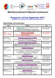 Programm Juli bis September 2013