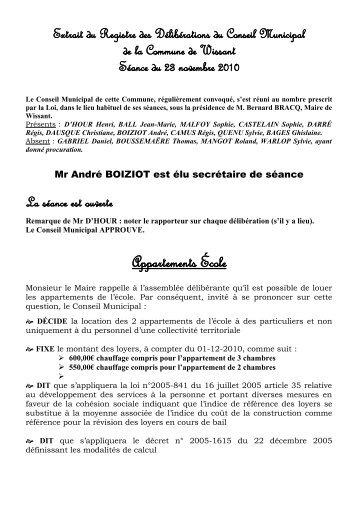 Compte Rendu du Conseil Municipal du 23 Novembre - Wissant