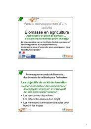 Accompagner un projet de biomasse - Réseau Rural Français