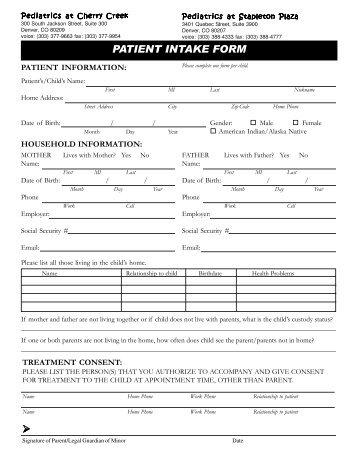 new patient information sheet pdf